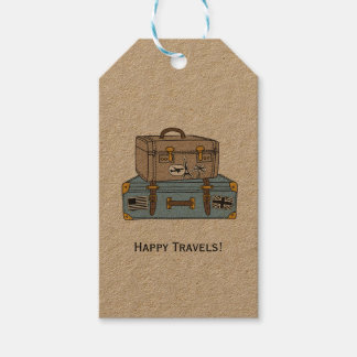 Vintage Luggage Farewell Gift Tag