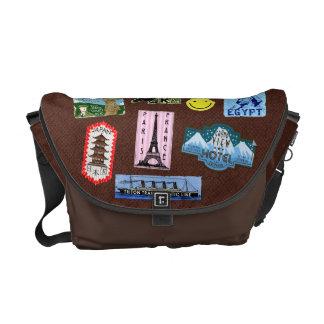 Vintage Luggage World Travel Suitcase Stickers Messenger Bag
