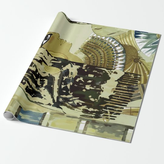 Vintage Luxor Egypt Ruins Travel Wrapping Paper