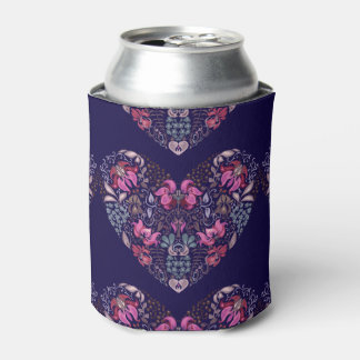 Vintage luxury design. Heart stylish pattern Can Cooler