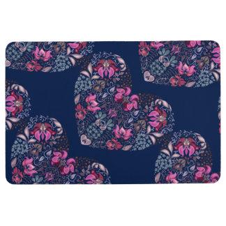 Vintage luxury design. Heart stylish pattern Floor Mat