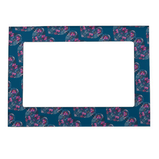 Vintage luxury design. Heart stylish pattern Magnetic Picture Frame