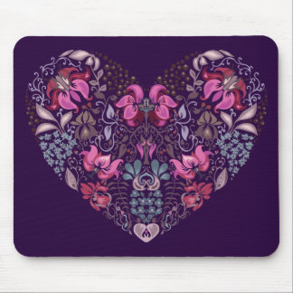 Vintage luxury design. Heart stylish pattern Mouse Pad