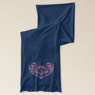 Vintage luxury design. Heart stylish pattern Scarf