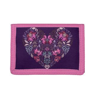 Vintage luxury design. Heart stylish pattern Trifold Wallets