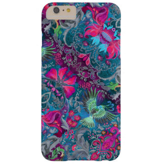 Vintage luxury floral garden blue bird lux pattern barely there iPhone 6 plus case