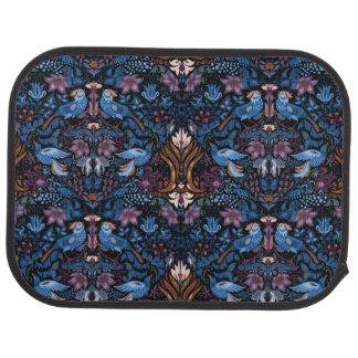 Vintage luxury floral garden blue bird lux pattern car mat