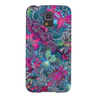 Vintage luxury floral garden blue bird lux pattern case for galaxy s5