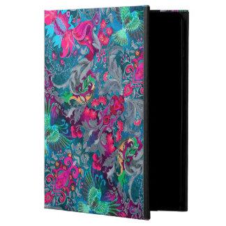 Vintage luxury floral garden blue bird lux pattern case for iPad air
