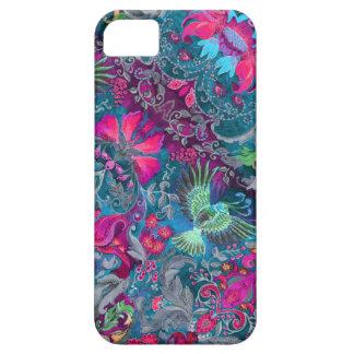 Vintage luxury floral garden blue bird lux pattern case for the iPhone 5