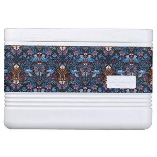Vintage luxury floral garden blue bird lux pattern cooler