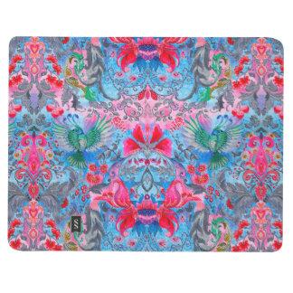 Vintage luxury floral garden blue bird lux pattern journal