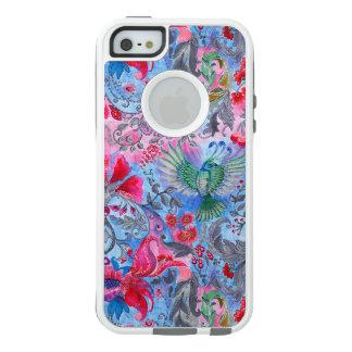 Vintage luxury floral garden blue bird lux pattern OtterBox iPhone 5/5s/SE case