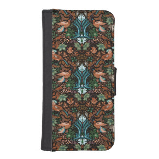 Vintage luxury floral garden gold bird lux pattern iPhone SE/5/5s wallet case