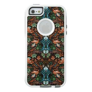 Vintage luxury floral garden gold bird lux pattern OtterBox iPhone 5/5s/SE case