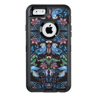 Vintage luxury Heart with blue birds happy pattern OtterBox Defender iPhone Case