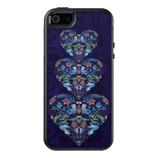 Vintage luxury Heart with blue birds happy pattern OtterBox iPhone 5/5s/SE Case