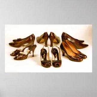 Vintage Luxury Ladies Shoes Photography Print