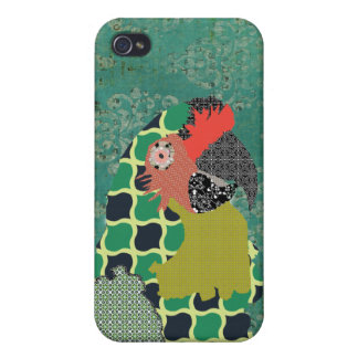 Vintage Macaw Damask Case iPhone 4 Covers