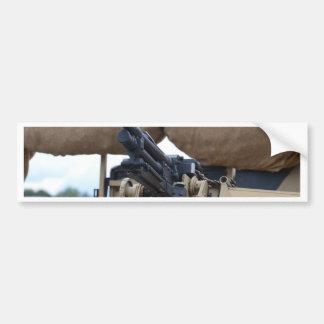 Vintage Machine Gun And Armor Bumper Stickers