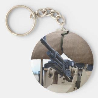Vintage Machine Gun And Armor Key Chain
