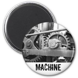Vintage machinery 6 cm round magnet