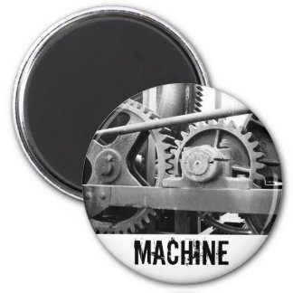 Vintage machinery fridge magnet