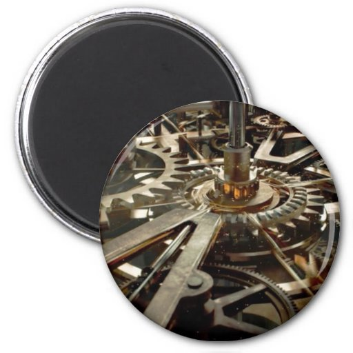 VINTAGE Machinery Rotor Gear Fridge Magnets
