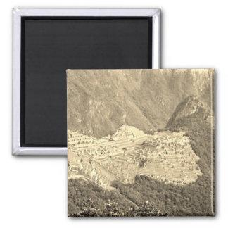 Vintage Machu Picchu Magnet