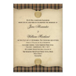 Vintage MacKenzie Hunting Tartan Plaid Wedding 13 Cm X 18 Cm Invitation Card