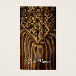 vintage Macramé look Business Card