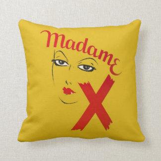 Vintage Madame X Movie Film Bold Graphic Woman Cushion