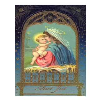 Vintage Madonna and Child Christmas Full Color Flyer