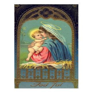 Vintage Madonna and Child Christmas Post Card