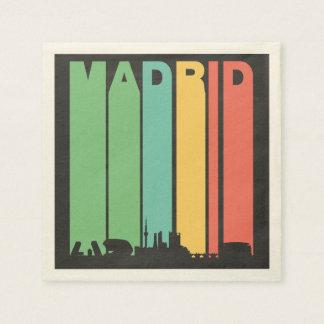 Vintage Madrid Cityscape Paper Napkins