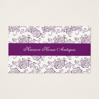 Vintage Magenta and Cream Roses Business Card