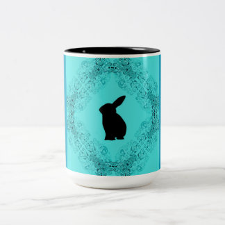 Vintage-Magic-Classic Blue II_Bunny Two-Tone Coffee Mug