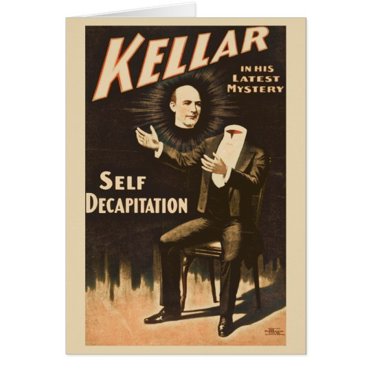 Vintage Magic Magician Kellar Card