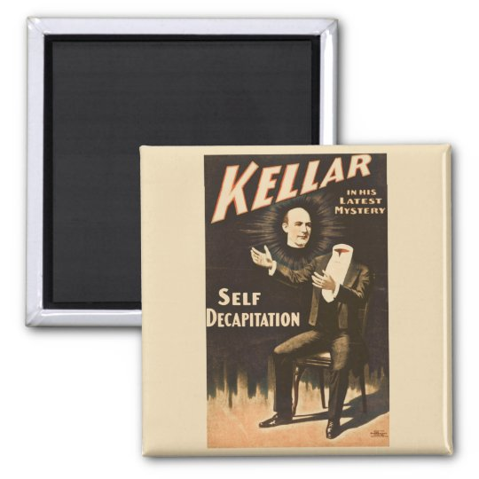 Vintage Magic Magician Kellar Magnet
