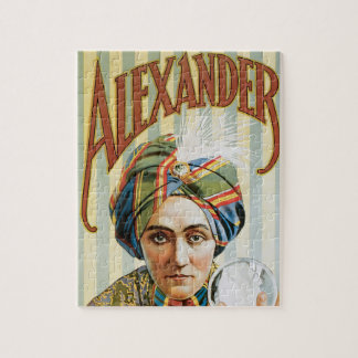 Vintage Magic Poster, Alexander, the Man Who Knows Jigsaw Puzzle