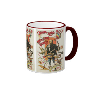 Vintage Magic Poster; Magician Chung Ling Soo Coffee Mugs