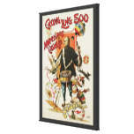 Vintage Magic Poster, Magician Chung Ling Soo Stretched Canvas Print