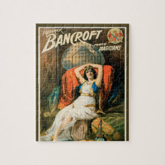 Vintage Magic Poster, Magician Frederick Bancroft Jigsaw Puzzle