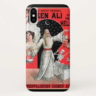 Vintage Magic Poster, the Great Original Ben Ali iPhone X Case