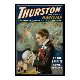 Vintage Magic, Thurston, The Great Magician Poster