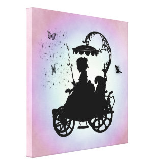 Vintage Magical Carriage Canvas Print
