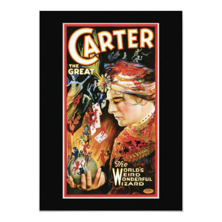 Vintage Magician Carter the Great Card
