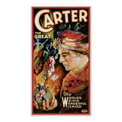 Vintage Magician Carter the Great Print