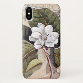 Vintage Magnolia Antique Botanical Collage iPhone X Case