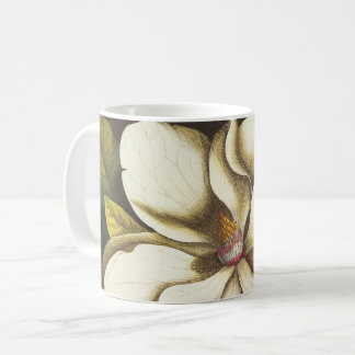 Vintage Magnolia Flowers Plant With Seeds Coffee Mug